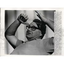 1974 Press Photo Atlanta Falcons head coach Norm Van Brocklin loss vs Miami