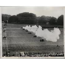 1933 Press Photo British Royal Horse Artillery Rehearsal at Tidworth Tattoo