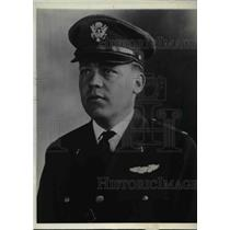 1929 Press Photo Capt William J Flood officer of team in National Balloon Race