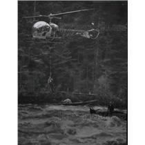 1959 Press Photo Helicopter Inverntion