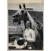 1933 Press Photo Ardoth Schneider Sweetheart of Rodeo at Long Beach CA