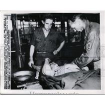 1950 Press Photo US first aid station for wounded soldiers in South Korea