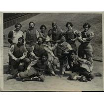 1931 Press Photo Football Players Dressed as Turn-of-Century Team, Stanford Uni.