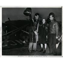 1940 Press Photo Flyers Laurence Shapiro, Wesley Reynolds at LA CA crash