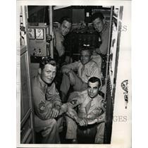 1945 Press Photo Crew of a C-54 military plane Col HT Myers, Capt EF Smith