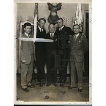 1928 Press Photo American Legion Edward Spafford, Richard Brophy
