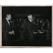 1936 Press Photo Former President Herbert Hoover at Academy of Music in Philadel