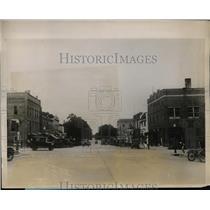 1927 Press Photo 3600 Population of Denison Iowa Home of Clarence Chamberlain