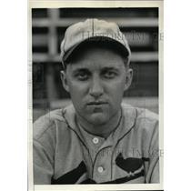 1934 Press Photo St. Louis Cardinals infielder Edward A. Delker