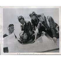 1941 Press Photo Ryan School of Aeronautics W Reid R Woodward H Huntington