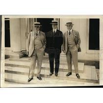 1920 Press Photo Leading Democrats Palmer, Morris & McCormick at White House