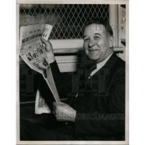 1938 Press Photo Charley Harrison football coach Kankakee Illinois HS