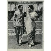 1934 Press Photo Mr & Mrs J Gazdar of Bombay India Visiting LA - ney05698