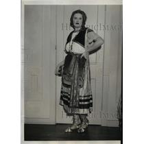 1933 Press Photo Susie Hopkins at Brilliantbal MAsque at Palm BEach Florida