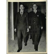 1937 Press Photo Two men walking - nee92824