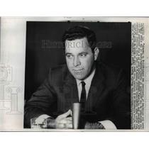 1960 Press Photo Missle expert Thomas Lanphier Jr speaks of ICBMs in DC