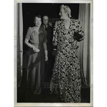 1943 Press Photo Mrs Winston Churchill Lady Fiset at the Quebec Reception