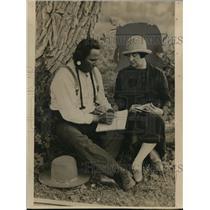 1926 Press Photo Cora Wilson Stewart Teaching Indians English Language