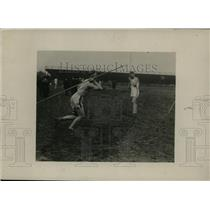 1919 Press Photo Corp. S.H. Thomson throws javelin for Occidental College