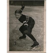 1922 Press Photo Jimmie Thompsen 10 year old Chicago Illinois skate r