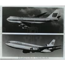 1977 Press Photo The Boeing 747 & McDonnell Douglas DC-10 - mja01471