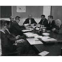1965 Press Photo Spokane Airport Board Members Now Meet in New Terminal.