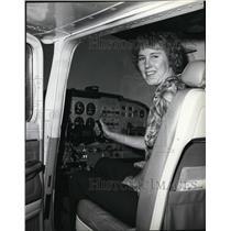 1979 Press Photo Airplane Pilot Kelly Bartman - spa22288