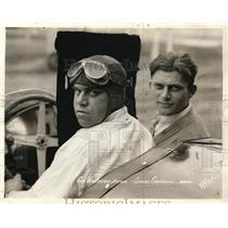 1931 Press Photo George Wingerten driver & mechanic Claude Gueschel in car