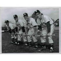 1959 Press Photo: South High School Base Ball Players  - cvb58455