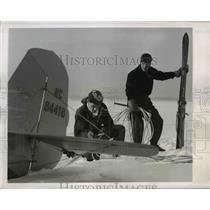 1948 Press Photo Winter Sports enthusiast at Middleburn College in Vermont