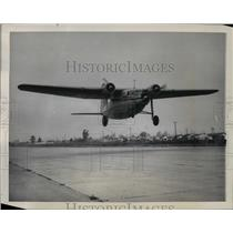 1947 Press Photo The Northrop Pioneer, new three engine, passenger cargo plane