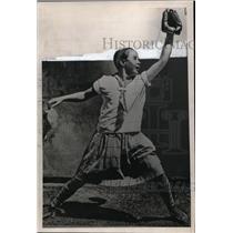 1927 Press Photo Alice Marble age 13 as mascot of San Francisco Seals baseball