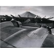 1965 Press Photo View of new terminal rotunda at Spokane International Airport.