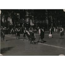 1923 Press Photo Women playing field hockey at Mills College - net02939
