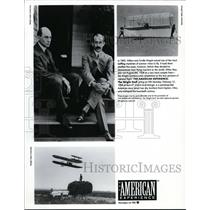 1996 Press Photo Wilbur and Orville Wright true pioneers of manned flight