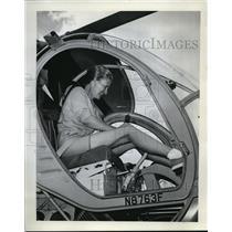 1963 Press Photo Whirly Girl, Mrs. W.E. (Aileen) Roberts - ora77386