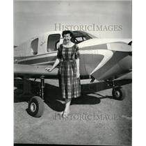 1958 Press Photo Mrs. Gini Richardson will pilot at Bellance Cruisemaster
