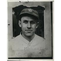 1933 Press Photo Ossie Bluege of Washington Senators baseball - net02169