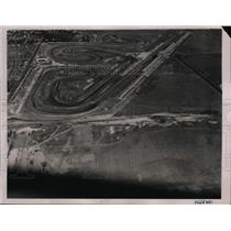 1936 Press Photo Aerial view of Roosevelt Raceway near Hempstead, New York