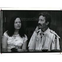 1993 Press Photo Pilot Keith Graham & wife, Danita talk about his condition