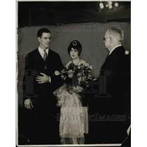 1928 Press Photo Travis Jackson of NY Giants weds Mary Blackman - net05252