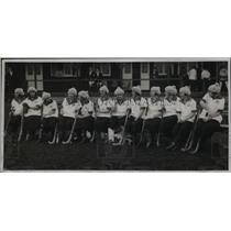 1923 Press Photo French women's field hockey team visiting England for match