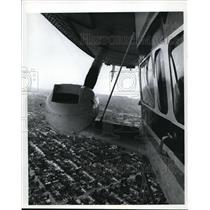 1971 Press Photo Goodyear blimp Columbia floats - orb63555