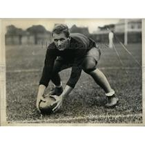 1931 Press Photo Charles C Cunningham at Cambride MA football workout