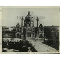 1928 Press Photo St. Charles Church in Vienna, Austria - mja03243