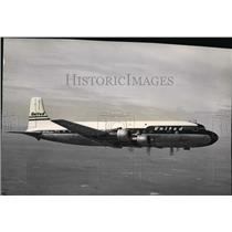 1955 Press Photo United Air Lines' DC-6B Mainliner at Spokane - spa22624