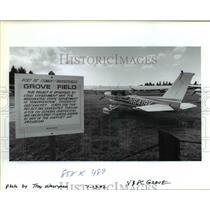 1992 Press Photo Washington Airport Ashshowdown Grove Field - ora99086