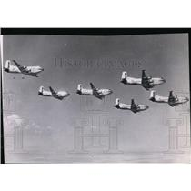 1954 Press Photo Airplane Cargo C124 Formation 62nd Troop Carrier Wing