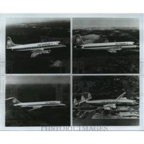 1977 Press Photo Air Canada's newest fleet Vickers Vanguard, Lockheed Super Cons