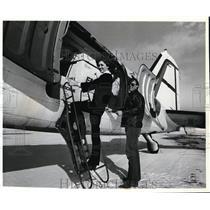 Press Photo Aero-Transit Airlines Laura Stamps and Bob Blakemore Jr.